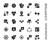 icon set of social networks in ... | Shutterstock . vector #1194997048