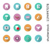 dental and teeth health in flat ... | Shutterstock . vector #1194997078