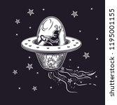 vector image of an alien in a... | Shutterstock .eps vector #1195001155