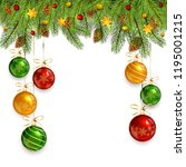 decorations with christmas... | Shutterstock .eps vector #1195001215