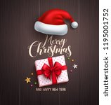christmas concept vector design ... | Shutterstock .eps vector #1195001752