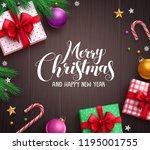 christmas banner vector... | Shutterstock .eps vector #1195001755