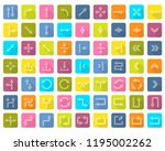 arrow icon set in flat style... | Shutterstock . vector #1195002262