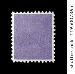 blank square postage stamp with ... | Shutterstock . vector #1195007365
