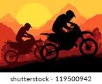 motorbike riders motorcycle... | Shutterstock .eps vector #119500942