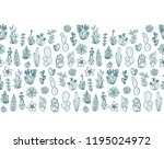 succulent plants collection  ... | Shutterstock .eps vector #1195024972
