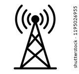 wireless internet signals over... | Shutterstock .eps vector #1195026955