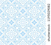 portuguese azulejo ceramic tile ... | Shutterstock .eps vector #1195029082