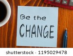 be the change written on note... | Shutterstock . vector #1195029478