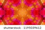 geometric design  mosaic of a... | Shutterstock .eps vector #1195039612