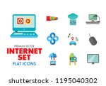 internet icon set. web camera... | Shutterstock .eps vector #1195040302