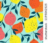 colorful fruits seamless...   Shutterstock .eps vector #1195042525