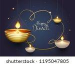 illustration of illuminated oil ... | Shutterstock .eps vector #1195047805