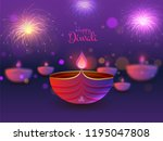 happy diwali poster or greeting ... | Shutterstock .eps vector #1195047808
