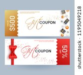 gift coupon template layout... | Shutterstock .eps vector #1195049218