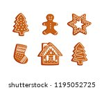 Vector Gingerbread Cookie Set....