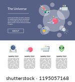 vector flat space icons page...
