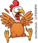 scared cartoon chicken. vector... | Shutterstock .eps vector #119505895