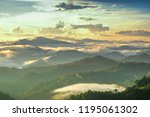 the scenery on the summit ... | Shutterstock . vector #1195061302