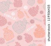 beautiful  seamless pink... | Shutterstock .eps vector #119506435