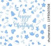 hygge christmas brush... | Shutterstock .eps vector #1195065508