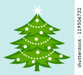 white decorated christmas tree. ... | Shutterstock .eps vector #119506732