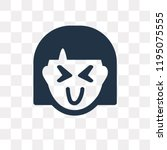 joyful vector icon isolated on... | Shutterstock .eps vector #1195075555