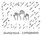 hands up participation icon | Shutterstock .eps vector #1195084045