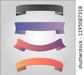 ribbon banner set  vector... | Shutterstock .eps vector #1195087318