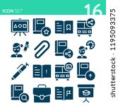 simple set of 16 icons related... | Shutterstock .eps vector #1195093375