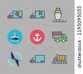 maritime icon set. vector set... | Shutterstock .eps vector #1195095055