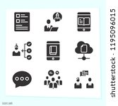simple set of 9 icons related... | Shutterstock .eps vector #1195096015