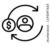 dolar cycle with the user is... | Shutterstock .eps vector #1195097665