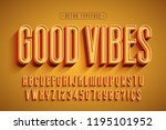 condensed 3d display font... | Shutterstock .eps vector #1195101952