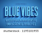 condensed 3d display font... | Shutterstock .eps vector #1195101955