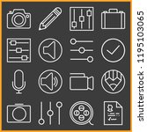 set of 16 professional outline... | Shutterstock .eps vector #1195103065