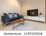 luxury interior design in... | Shutterstock . vector #1195103518