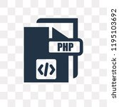 php vector icon isolated on... | Shutterstock .eps vector #1195103692