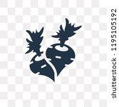 radish vector icon isolated on... | Shutterstock .eps vector #1195105192