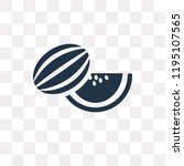 melon vector icon isolated on... | Shutterstock .eps vector #1195107565