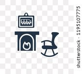 fireplace vector icon isolated... | Shutterstock .eps vector #1195107775