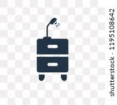 drawers vector icon isolated on ... | Shutterstock .eps vector #1195108642