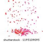 bright and colorful confetti... | Shutterstock . vector #1195109095