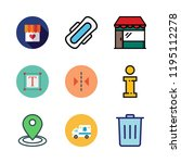 city icon set. vector set about ... | Shutterstock .eps vector #1195112278