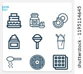 simple set of  9 outline icons...   Shutterstock . vector #1195114645