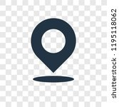 location vector icon isolated... | Shutterstock .eps vector #1195118062