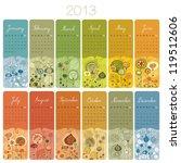 2013 Calendar Set With Vertica...