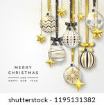 christmas background with... | Shutterstock .eps vector #1195131382