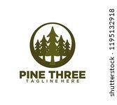 pine logo design. pine tree... | Shutterstock .eps vector #1195132918