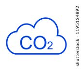 co2 cloud icon | Shutterstock .eps vector #1195134892